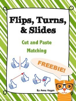 Use this hands-on activity to help your students explore the concept of flips, turns, and slides. Please rate this product and let me know if you have any questions! Enjoy!
