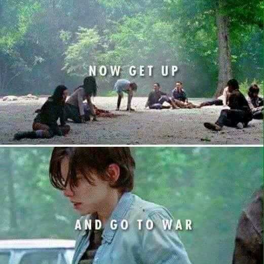 Maggie was the only one who got up after this madness & was ready to go to war.
