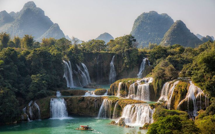 You might know some of the world& most famous waterfalls, like Niagara and Victoria, but what about Kaieteur Falls or Gullfoss? Here are 15 of our favorite cascades (and their respective heights) from around the globe. Natural Waterfalls, Famous Waterfalls, Beautiful Waterfalls, Beautiful Landscapes, Vietnam Travel, Asia Travel, Places To Travel, Places To See, Vacation Places