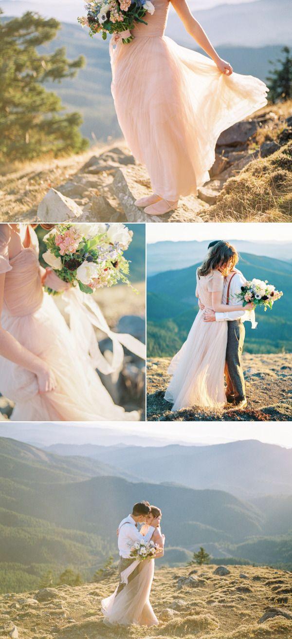 Pastel Mountain Elopement Inspiration - Style Me Pretty