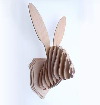 Rabbit Hare Bunny Head Wall Trophy