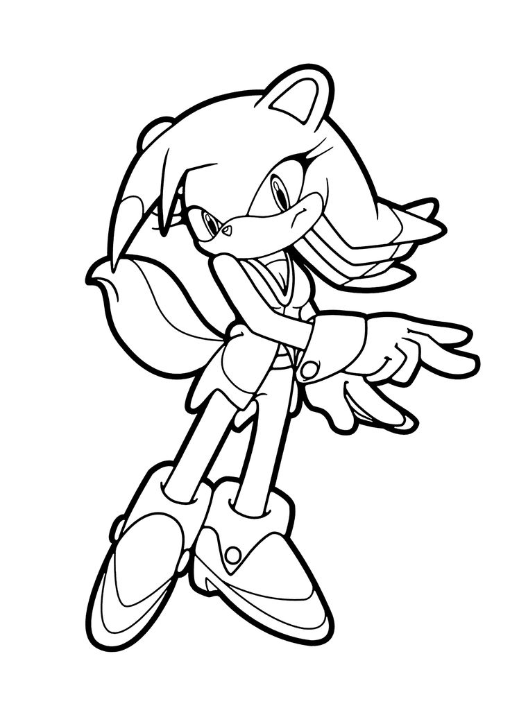 Sonic characters coloring pages for kids printable free