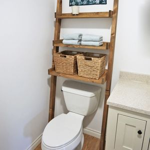 Simple Ana White  Leaning Bathroom Shelf  DIY Projects