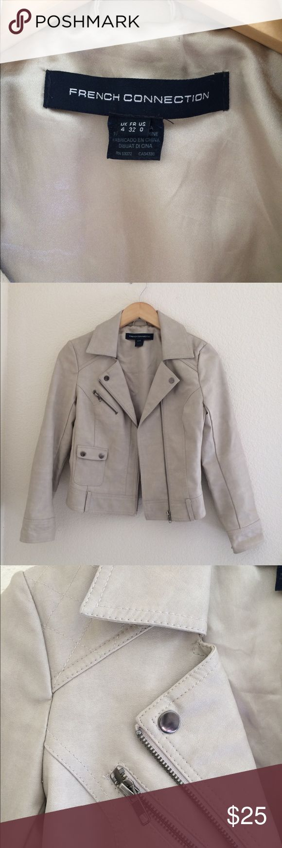 French Connection Moto Leather Jacket From French Connection leather jacket. It's in great condition no stain no tear. French Connection Jackets & Coats Utility Jackets