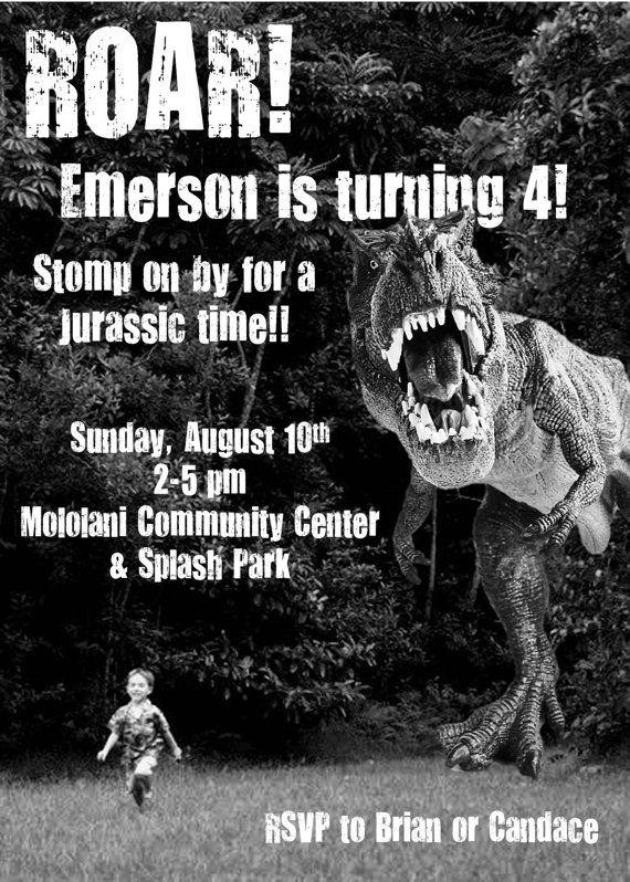 Dinosaur Birthday Invitation by DesignsofHeather on Etsy