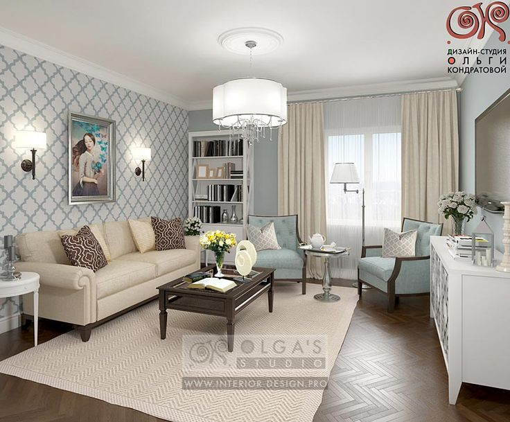 Charmant Design Of A Blue Living Room With Elements Of Art Deco Http://interior