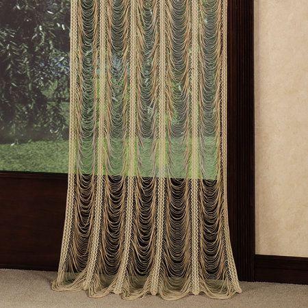 Sorrento II String Lace Window Panels | Tuscan style ...