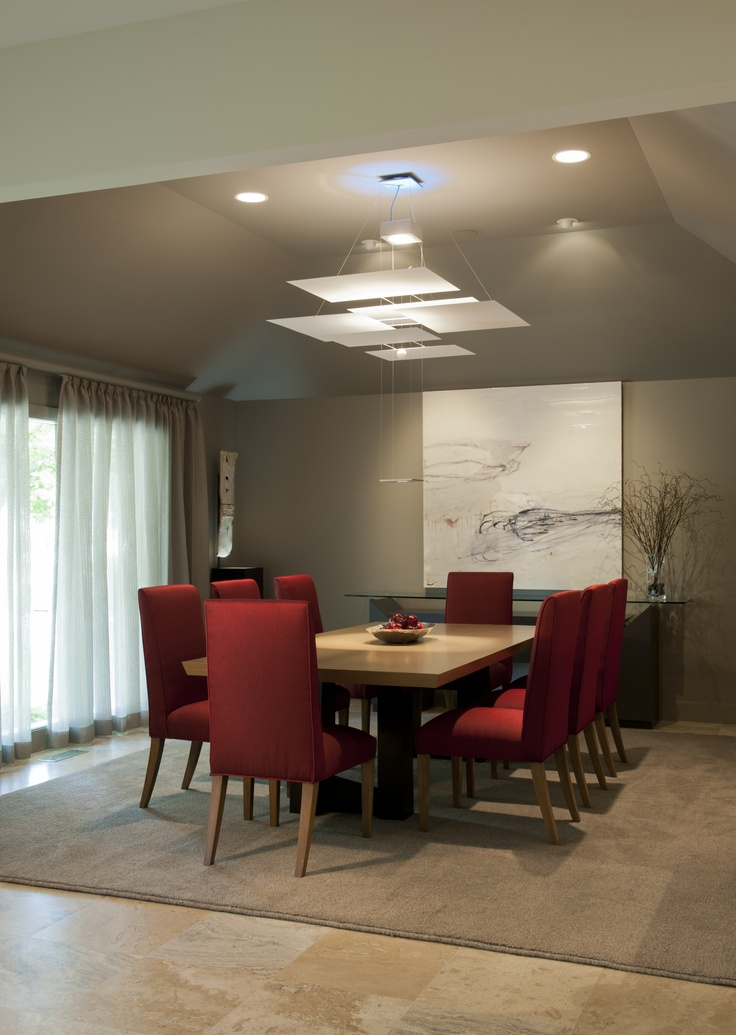 Dining Room with painting from Mel DeWees  from Doug Campbell Designs