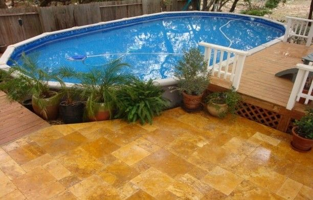 20 best images about above ground pool decks on pinterest for Above ground pool decks indianapolis