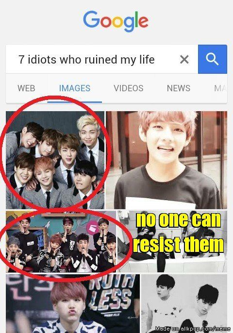 Meme Center | allkpop<<got7 n bts the 14 idoits that ruined my life n where the crap do i pin this to