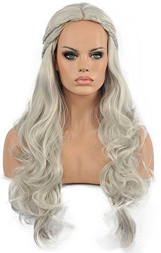 Diy Wig Grey Wavy Long Wigs Game Of Thrones Cosplay