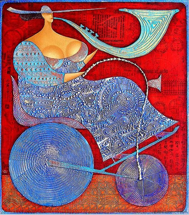 Roadblues by Wlad Safronow. (Oil on Canvas)