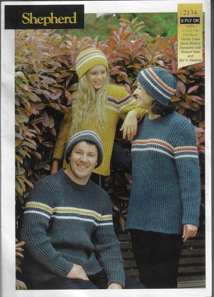 10e5286b3 Family Rib Sweater Shepherd 2134 knitting pattern 8 ply yarn winter men  women  Shepherd