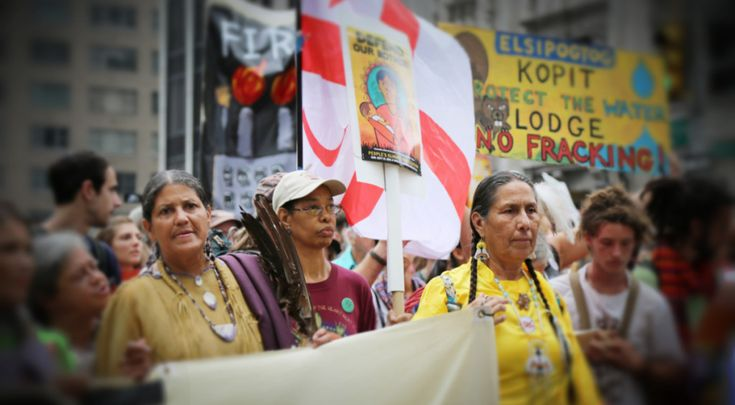 Indigenous Rising image of Casey Camp-Horniek (Ponca) ~ powerful inspiration for many. GD Meg's report from the recent Women's Environment & Climate Action Network meeting. Post & Podcast