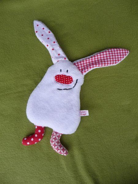 Conejito de peluche - small plush bunny, a designer piece of SchuetzEngel on DaWanda - kleiner Plüsch-Hase, ein Designerstück von SchuetzEngel bei DaWanda