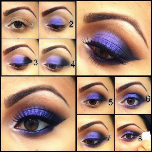purple eyeshadow with neutral crease