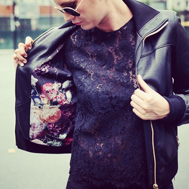 Up on the blog lace and leather #dolcegabbana #leatherweather |  @maddytalias
