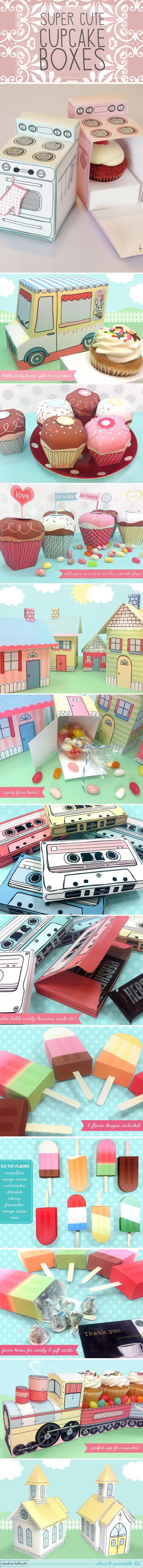 Caixas para cupcakes.. não são lindas!!