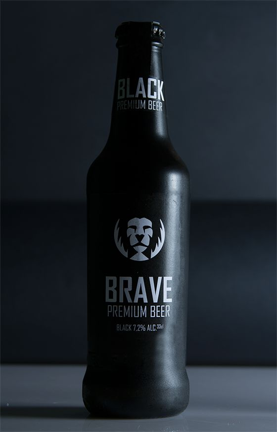 Simple, Premium beer. Brave: Premium Beer. by Simone Macciocchi, via Behance #beer #packaging