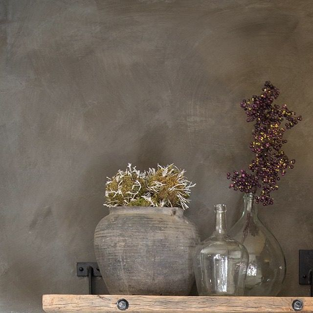 Fresco lime paint from Pure & Original in the color Deep Earth. Cred…