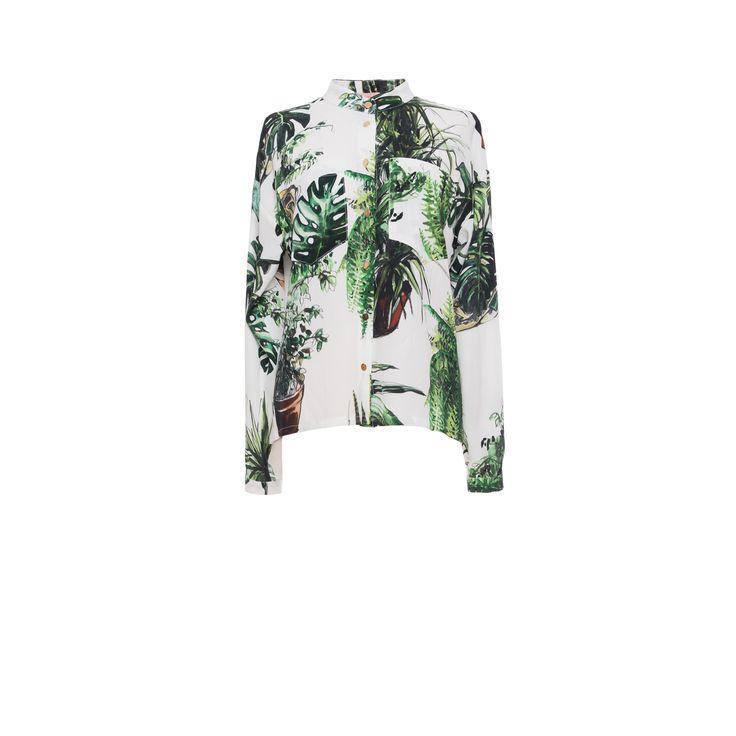 Plants print shirt