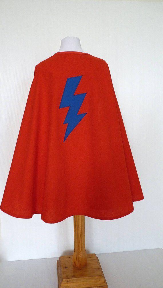 en soldes pas cher prix plus bas avec Déguisement super héros, cape super héros éclair, cape rouge ...