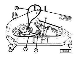 how to replace mower belt on john deere d130 diagram