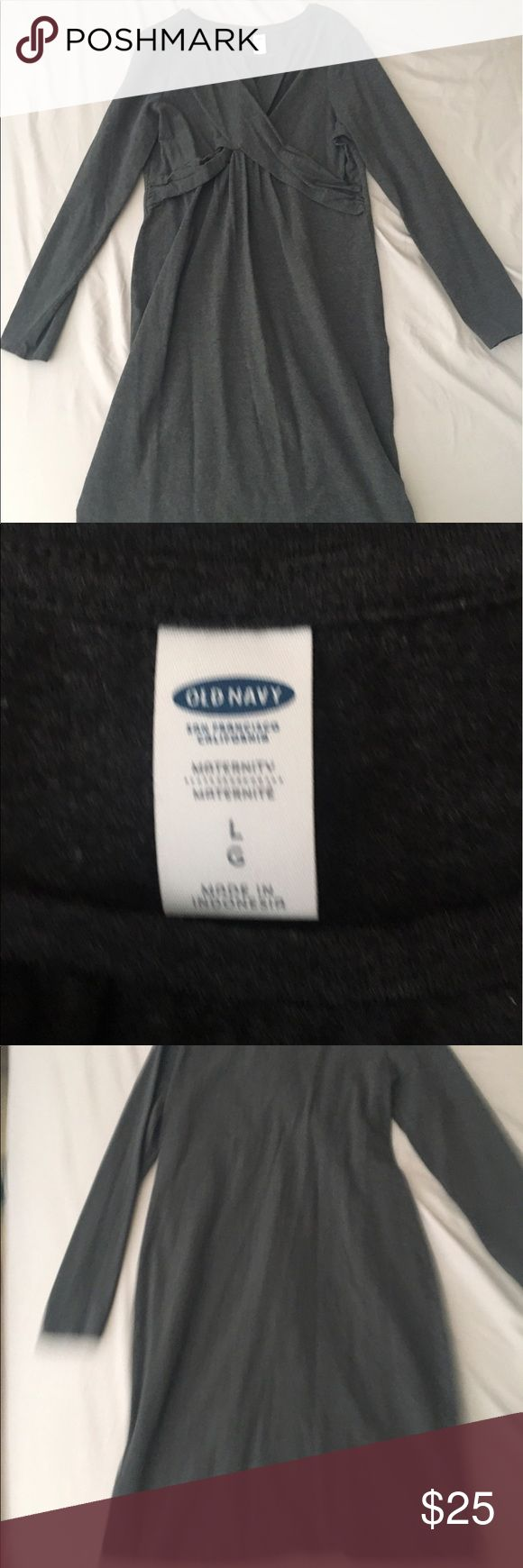 Dark Gray Maternity Dress Maternity dress in great condition Old Navy Dresses