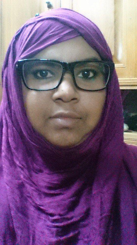 #VioletHijabWithBigSquaeGlasses!