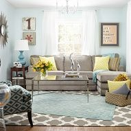 turn an unused living room into a bright and colorful mom cave!