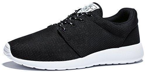 Oferta: 42.99€ Dto: -40%. Comprar Ofertas de Viihahn Hombres Zapatos Con Cordones De Ejecución Respirable Cómodo Ejercicio Zapatillas De Atletismo 41 EU Negro barato. ¡Mira las ofertas!