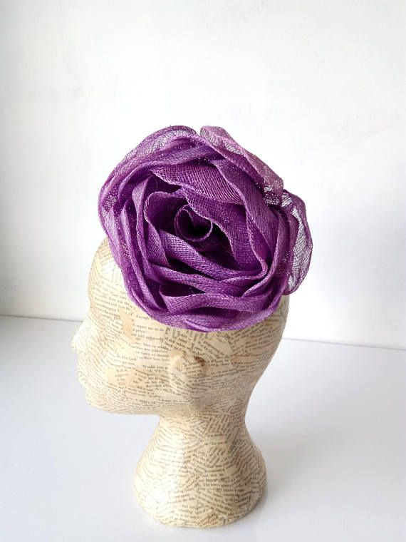 6739815b Extra Large Sinamay Rose - Lilac - Millinary, hats, fascinators ...