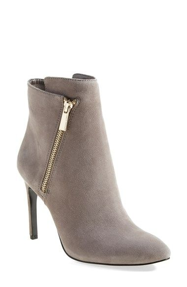 Vince Camuto 'Chantel' Asymmetrical Zip Bootie in Mouse Grey Suede (Women) | Nordstrom