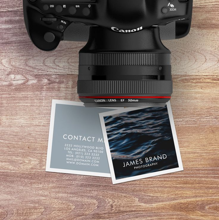 Square Business Card for Photographers and Photography Businesses by J32 Design