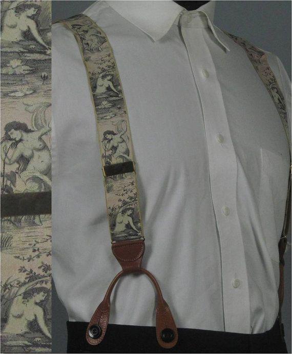 Vintage 1930s 1940s Mens Braces Garter Set   Rare by jauntyrooster, $300.00