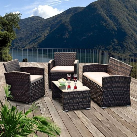 rattanm bel f r die terrasse. Black Bedroom Furniture Sets. Home Design Ideas