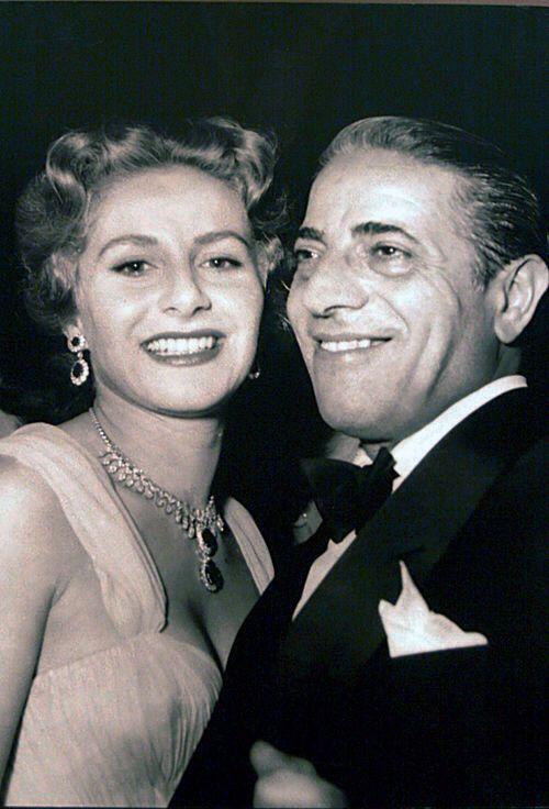 Tina and aris Onassis