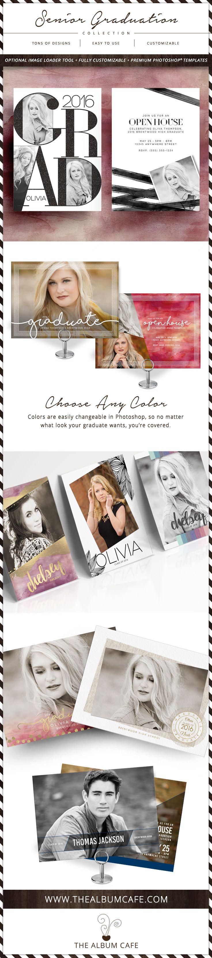 Senior Graduation Invitation Card Collection - Pro Photoshop Templates for Photographers