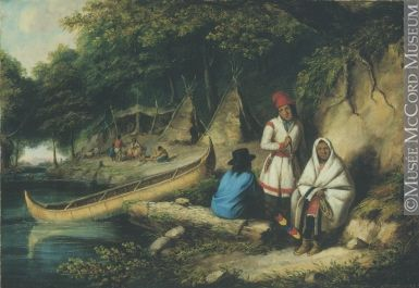 Aboriginal Camp in Lower Canada Cornelius Krieghoff (1815-1872) 1847, 19th century Oil on canvas