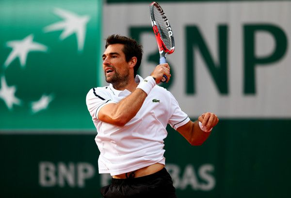 Jeremy Chardy in 2015 French Open - Day Five