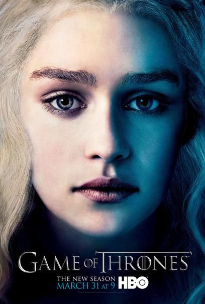 "(HBO) Game of Thrones Poster - Season III - ""Mother of Dragons"" Daenerys Targaryen"