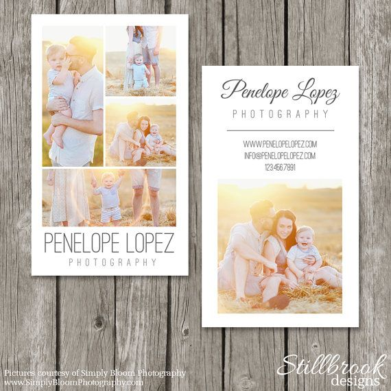 Vertical Business Card Template Photography by StillbrookDesigns