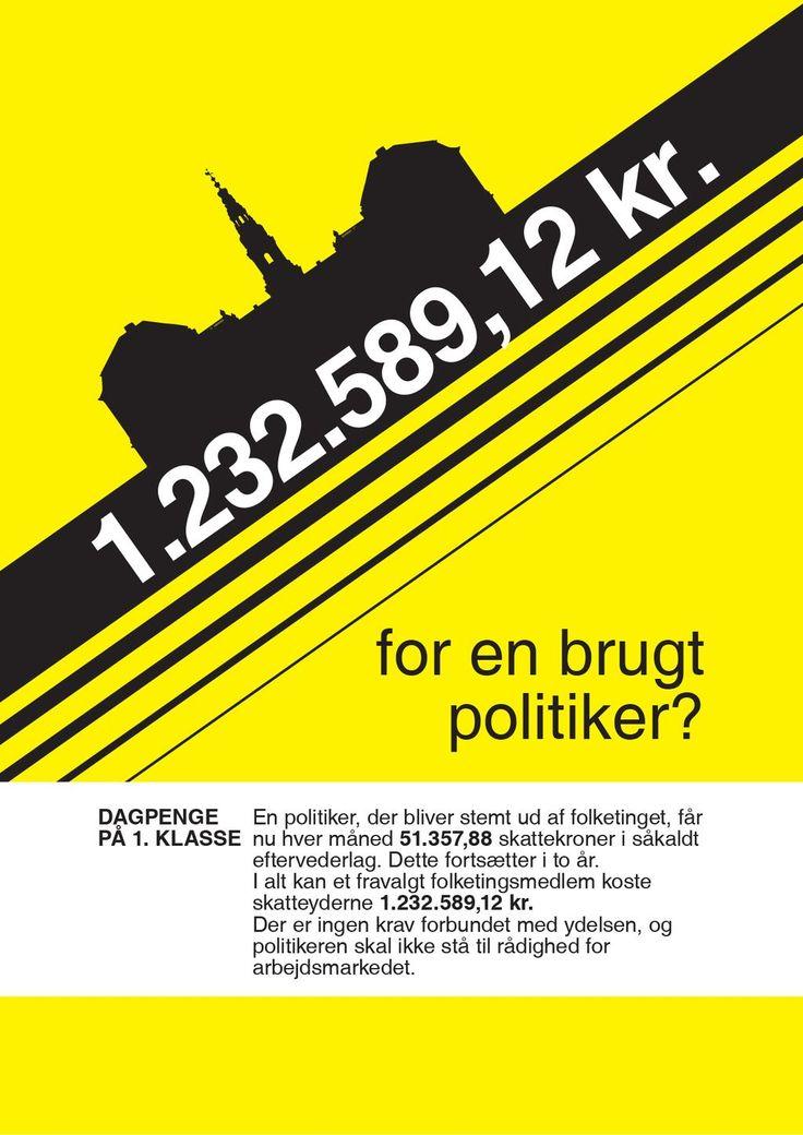 """A propos """"det skal betale sig at arbejde"""". En arbejdsløs politiker får 1.232.589,12 kr i luksusdagpenge. #dkpol #fv15"""
