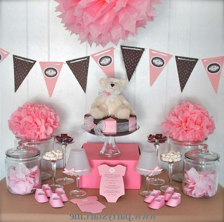 Beautiful Baby Shower Centerpieces For Girls Pink Teddy Bear