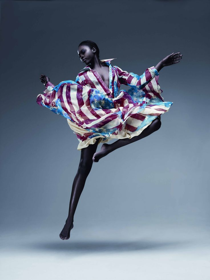 Catherine Malandrino American Long Sleeve Dress in Flag