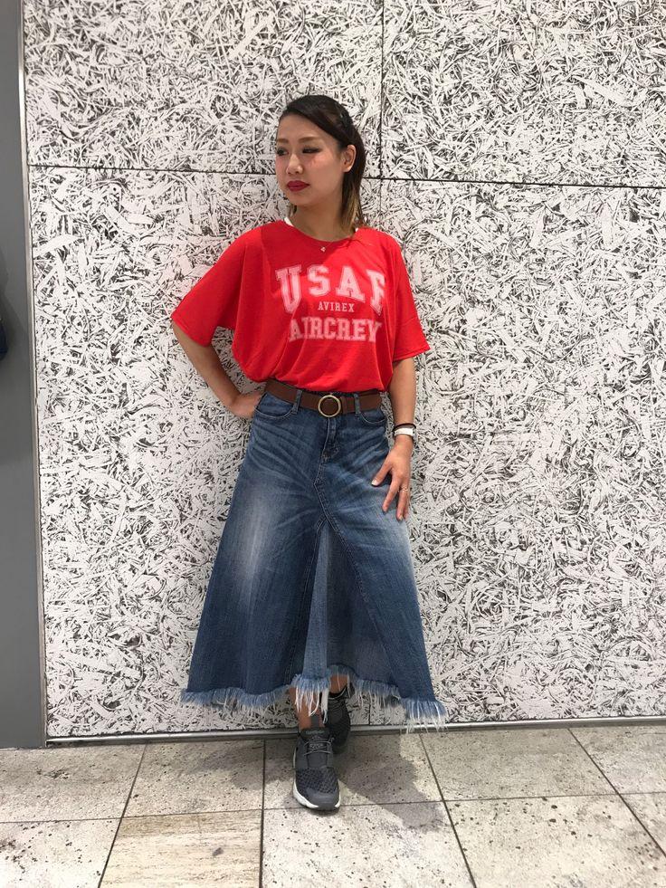 DOLMAN SLEEVES LOGO TEE/AVREX横浜ジョイナス店 1枚で可愛く着れちゃうヘビロテ確定のドルマントップスは夏には欠かせないアイテムです!