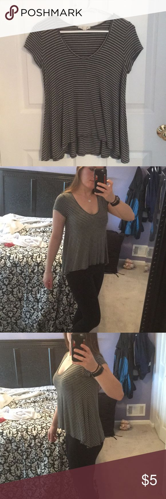 Striped top Flowy top with scoop neck! Very soft material Marshalls Tops Tees - Short Sleeve