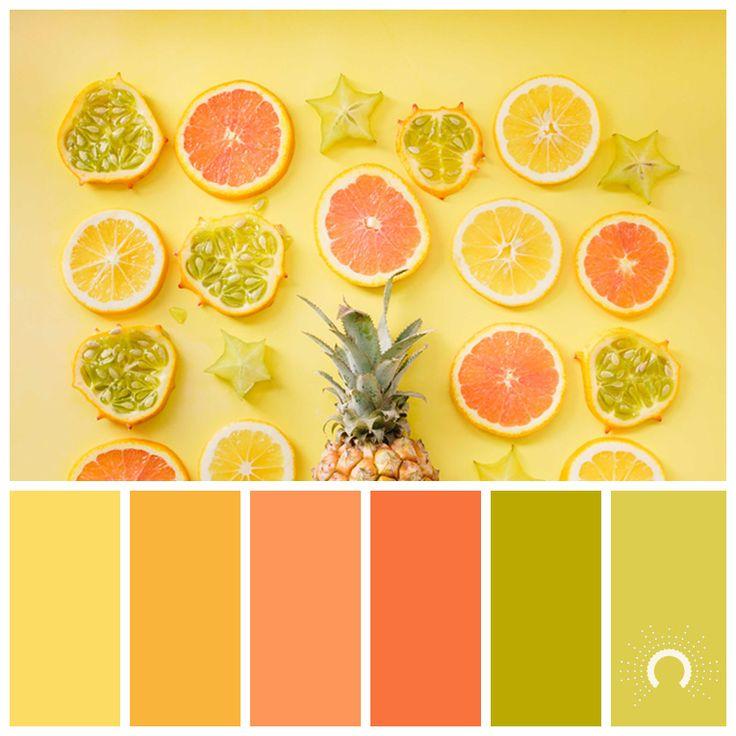 Wandfarben Farbpalette Gelb