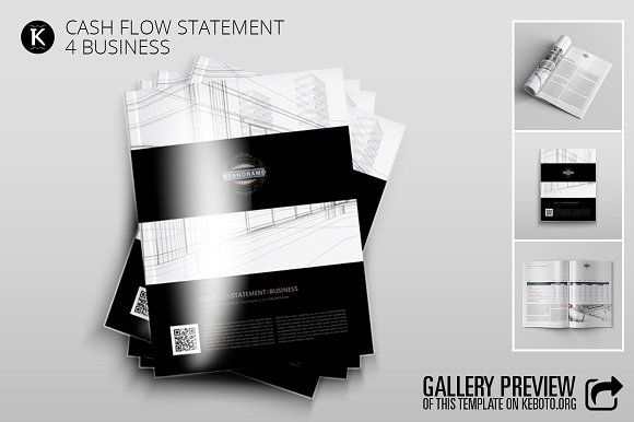 Cash Flow Statement 4 Business by Keboto on @creativemarket