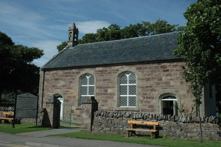 Front view of Ullapool Museum West Argyle Street Ullapool after repair to the Thomas Telford church